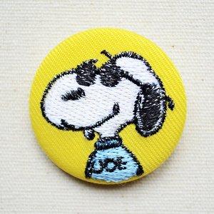 画像1: 刺繍ブローチ スヌーピー(ジョークール) PEANUTS/ピーナッツ