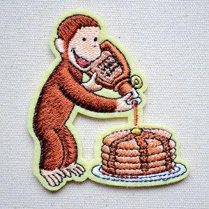 画像1: ワッペン おさるのジョージ パンケーキS