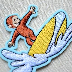 画像2: シールワッペン おさるのジョージ サーフィンS