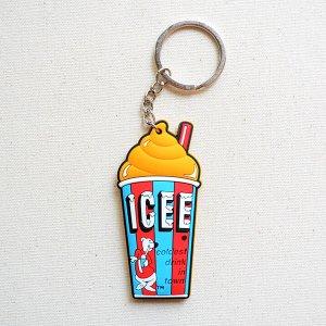画像1: ラバーキーチェーン ICEE CUP(オレンジ)