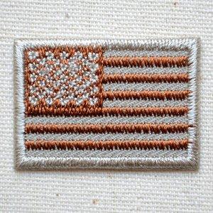 画像1: ミニワッペン アメリカ国旗 星条旗(タン) SSサイズ