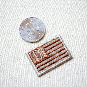画像2: ミニワッペン アメリカ国旗 星条旗(タン) SSサイズ