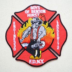 画像1: ビックアメリカンワッペン FDNY ニューヨーク消防局