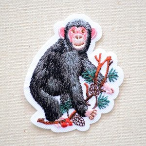 画像1: ワッペン サル