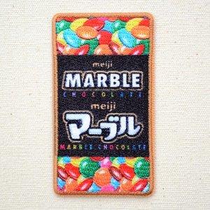 画像1: ワッペン マーブル チョコレート meiji