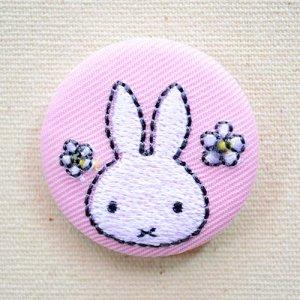画像1: 刺繍ブローチ ミッフィー(お花) Dick Bruna/ディック ブルーナ