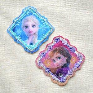 画像1: ワッペン アナと雪の女王2 アナ&エルサ