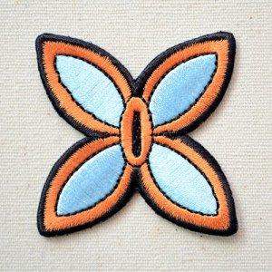画像1: ワッペン 鬼滅の刃 胡蝶しのぶ こちょうしのぶ 日輪刀 鍔