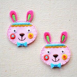 画像1: ワッペン ウサギ(2枚組)