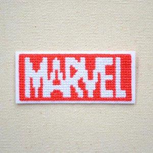 画像1: ワッペン マーベル ピクセル ロゴ