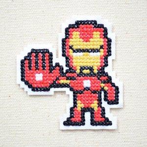 画像1: ワッペン マーベル ピクセル アイアンマン