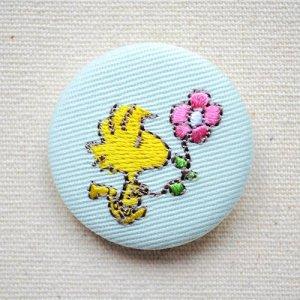 画像1: 刺繍ブローチ スヌーピー パステル(ウッドストック お花) PEANUTS/ピーナッツ