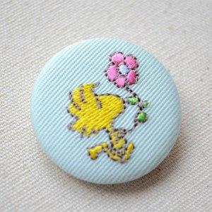 画像2: 刺繍ブローチ スヌーピー パステル(ウッドストック お花) PEANUTS/ピーナッツ