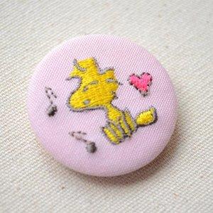画像2: 刺繍ブローチ スヌーピー パステル(ウッドストック ハート) PEANUTS/ピーナッツ