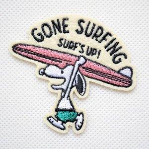 画像1: ワッペン スヌーピー サーフィン