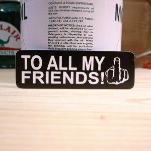 画像1: ステッカー TO ALL MY FRIENDS