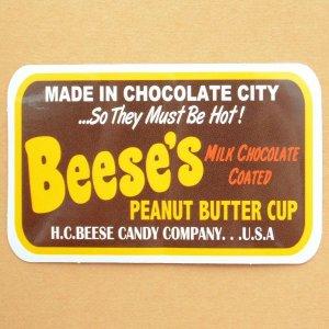 画像1: アドバタイジングステッカー(L) Beese's ブラウン シール アメリカン 防水仕様