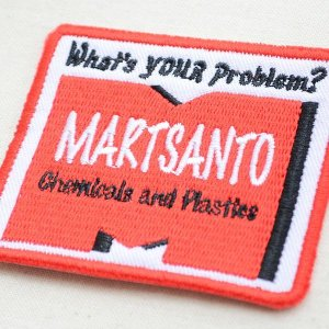 画像2: USAアドバタイジングワッペン M-Martsanto(レッド&ホワイト/スクエア)