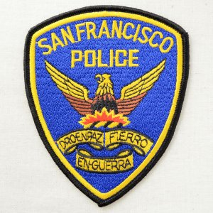画像1: ポリスワッペン サンフランシスコ警察(糊なし)