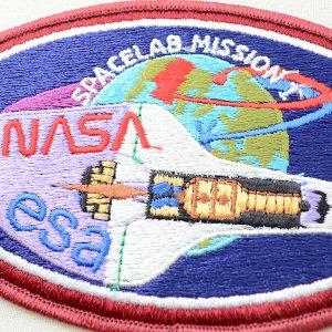 画像2: 宇宙ワッペン ナサ NASA&esa(スペースシャトル/糊なし)