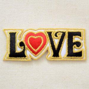 画像1: メッセージワッペン LOVE ラブ(ハート)