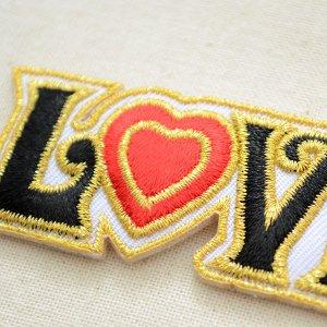 画像2: メッセージワッペン LOVE ラブ(ハート)