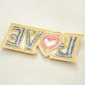 画像3: メッセージワッペン LOVE ラブ(ハート)