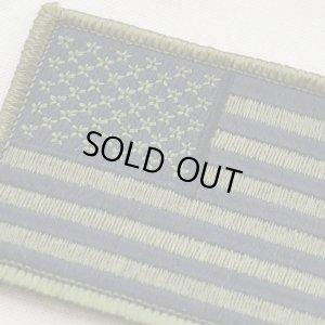 ミリタリーワッペン USA アメリカ国旗/星条旗(OD/カーキ) WM0088