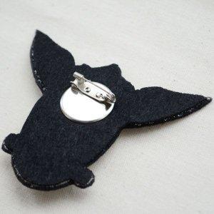 画像3: エンブレムブローチ クラウンスターブラック(ボタン付き)