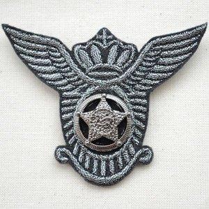 画像1: エンブレムブローチ クラウンスターブラック(ボタン付き)