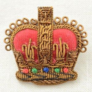 画像1: プレミアムエンブレムブローチ クラウン(王冠/ブロンズ)