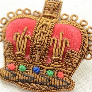 画像2: プレミアムエンブレムブローチ クラウン(王冠/ブロンズ)