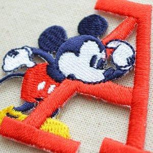 画像2: ワッペン ディズニー ミッキーマウス アルファベット(A/レッド)