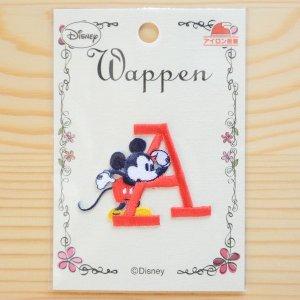 画像4: ワッペン ディズニー ミッキーマウス アルファベット(A/レッド)