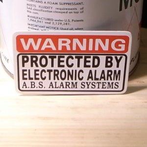 画像1: ステッカー  ELECTRONIC ALARM