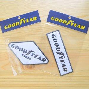 画像4: ロゴワッペン グッドイヤー Goodyear(レクタングル/ホワイト)