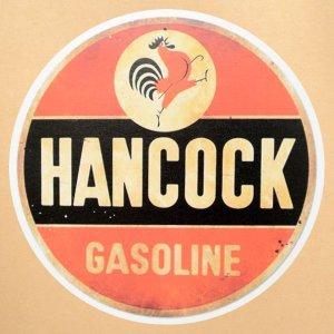 画像1: ガレージステッカー/シール ハンコックガソリン Hancock