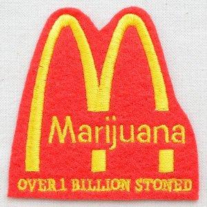 画像1: パロディロゴワッペン Marijuana マリファナ