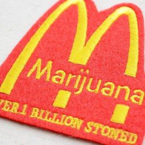 画像2: パロディロゴワッペン Marijuana マリファナ