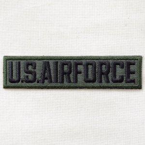 画像1: ミリタリーワッペン U.S.Air Force エアフォース Tab(カーキ&ブラック)