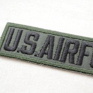 画像2: ミリタリーワッペン U.S.Air Force エアフォース Tab(カーキ&ブラック)
