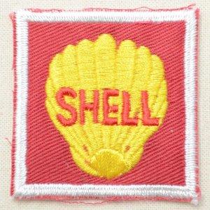 画像1: ロゴワッペン シェル Shell オイル(スクエア)