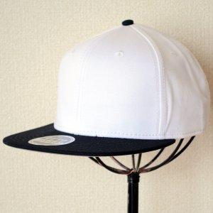 画像1: 帽子/キャップ オットー Otto フラットバイザー コットンツイル(ブラック×ホワイト) *メール便不可