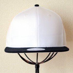 画像2: 帽子/キャップ オットー Otto フラットバイザー コットンツイル(ブラック×ホワイト) *メール便不可