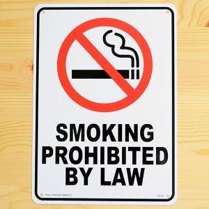 画像1: 看板/プラサインボード 禁煙 Smoking Prohibited By Law *メール便不可