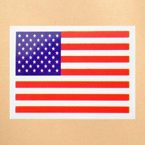 画像1: 国旗ステッカー/シール アメリカ(星条旗)