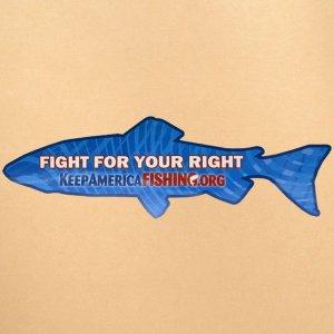 画像1: ステッカー/シール 魚(キープアメリカフィッシング)