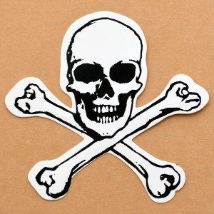 画像1: ステッカー/シール スカルアンドボーンズ Skull&Bones