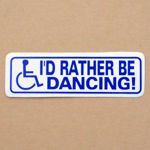 画像1: ステッカー/シール I'd Rather Be Dancing!