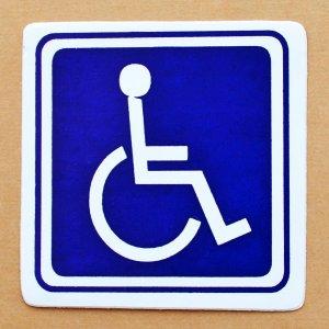 画像1: ステッカー/シール 車イスマーク Wheel Chair